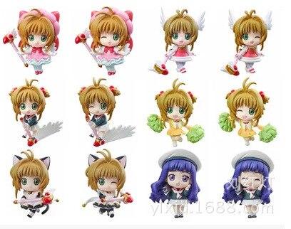Cardcaptor Sakura Kinomoto Sakura Daidouji Tomoyo Action Figures PVC brinquedos Collection Figures toys for christmas gift<br><br>Aliexpress