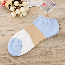 Korean Version Of The Three-Color Cute Female Socks Women 's Cotton Shallow Mouth Striped short Tube Women Socks