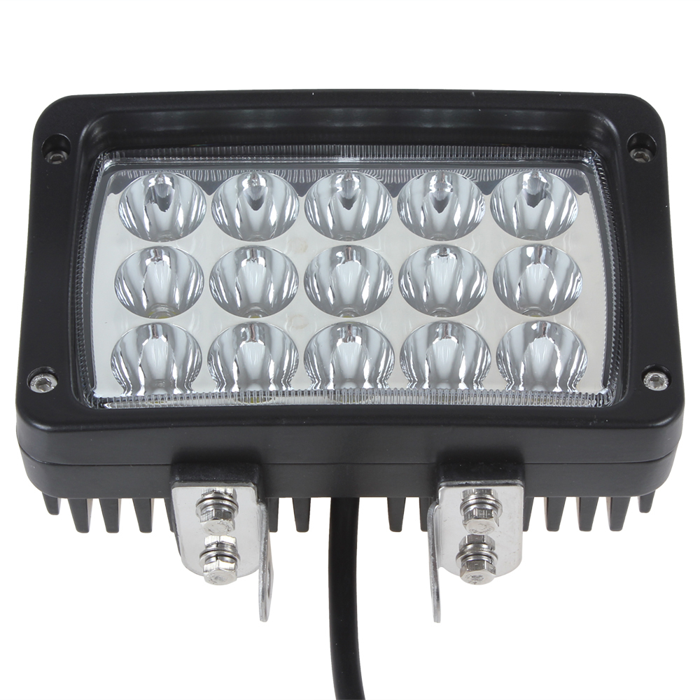 Hot Hot Sale! 2925LM 45W 15 x 3W Epistar LEDs Work Light for Motorcycle / Tractor / Boat / SUV / ATV<br>