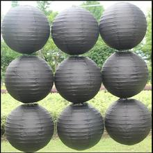 6-8-10-12-14 Inch Black paper lantern Wedding decorations Events party supplier baby shower Birthday Christm Chinese paper ball(China)