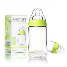 Baby Feeding Bottle150/240ml Wide Mouth Glass Bottle With Dust Cover Anti-flatulence Bottle Newborn baby supplies silicone teat