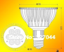 10pcs/lot High Brightness PAR30 E27 PAR WHITE AMBER SPOTLIGHT  7*3 21w LED dimmable  par 30 case bulb
