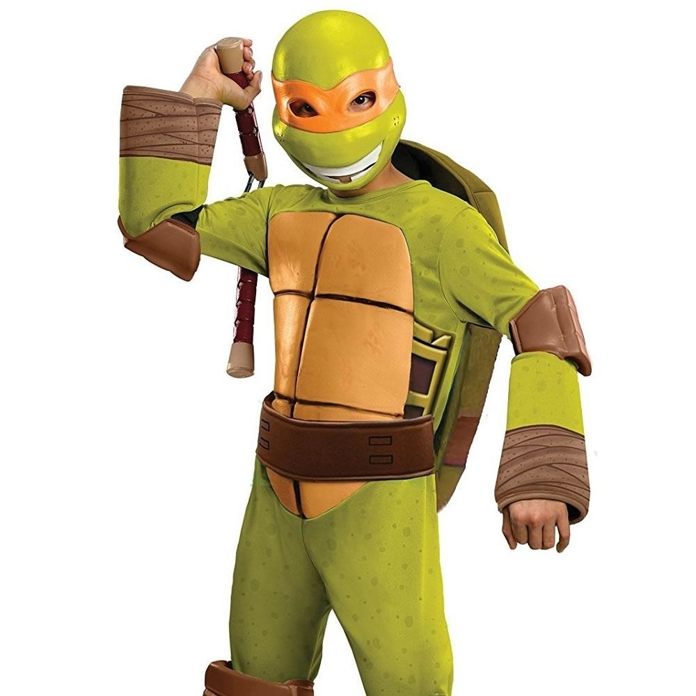 Teenage Mutant Ninja Turtles Michaelangelo Toddler size XS 2/4 TMNT Costume Outfit Rubie's (1)
