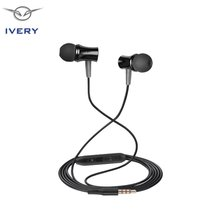 IVERY I9 HIFI Super Bass 3.5mm In Ear Earphone With Mic Stereo Metal Earphones Music For Xiaomi For Samsung Smartphone Universal