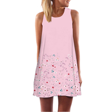 BHflutter Cute Pink Dress Prairie Chic Women Dress Floral Print Sleeveless Summer Dress 2018 New Casual Dresses Vestido de Festa(China)