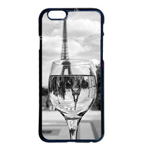 Eiffel Tower Red Wine Cup Cover Case for iPhone 4 4S 5 5S 5C 6 6S 7 Plus iPod Touch 4 5 6 LG G2 G3 G4