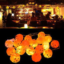 16pcs/Lot Cute Halloween Pumpkin LED String Lights Lantern Home Festival Halloween Party Decoration Props Supplies New