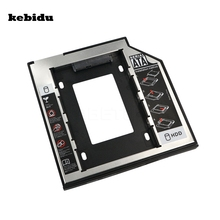"kebidu 2017 Aluminum+ Plastic Universal 2nd HDD Caddy 9.5mm SATA 3.0 2.5"" SSD HDD Case Hard Disk Drive Enclosure ODD Optical Bay(China)"