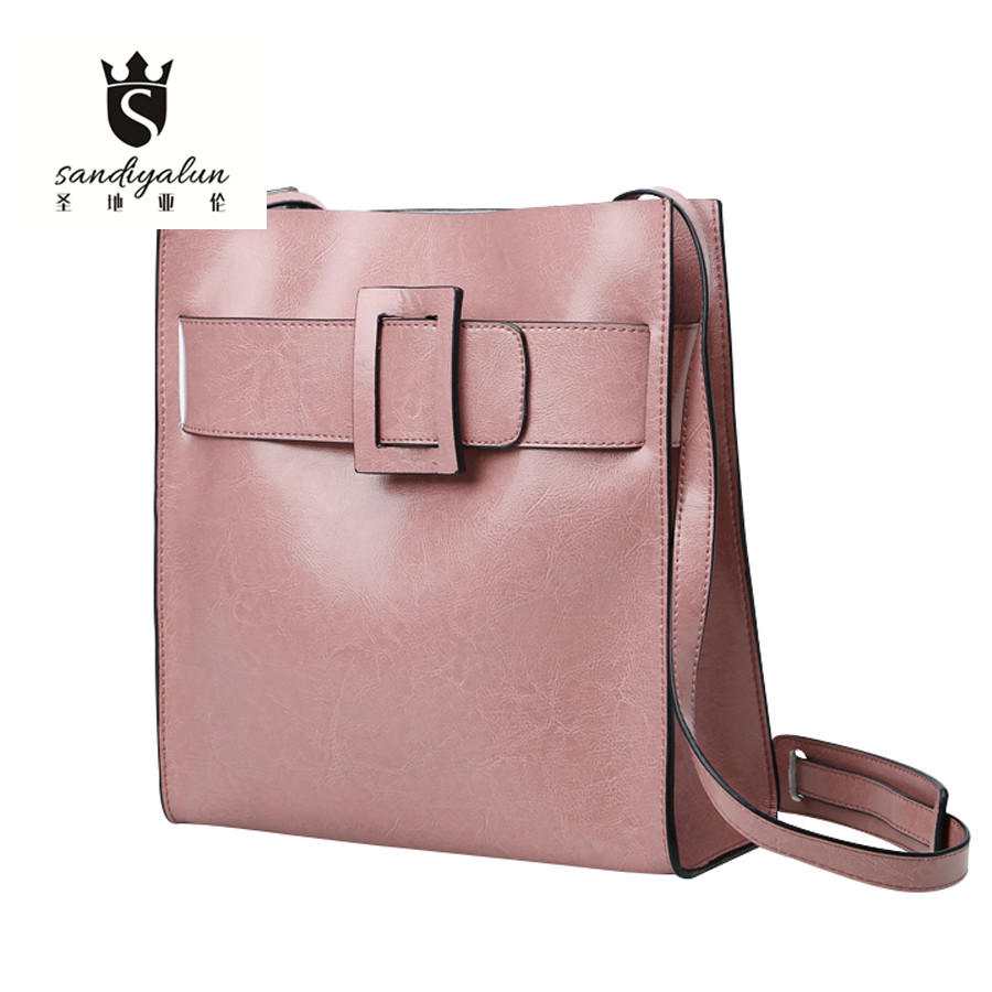 Luxury Genuine Leather Woman Shoulder Bag Brand Designer Ladies Tote Fashion Vintage Messenger Bags Cowhide Crossbody Bag <br>