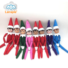 Lensple 37cm Christmas Doll Smile Fantasy Plush Dolls Christmas Decoration Children Toy Gifts