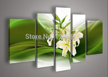 Handmade 5 Piece Landscape Oil Paintings On Canvas Wall Art Narcissus Pictures For Living Room Home Decor