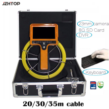 Drain Sewer Pipe Inspection Camera 7-inch LCD Text Writer 8GB SD Card DVR 30m Cable Keyboard USB Keyboard Text Writer(China)