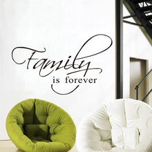 DCTOP Family Is Forever Wall Sticker Art Decal Quote Words Lettering Decor Living Room Sticker Wall Decals Home Decor Decoration