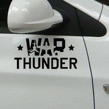 War Thunder wall vinyl car window funny stickers / black / silver reflective 24 CM X 11 CM(China)