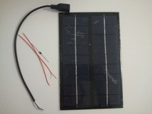 Solar panel 9V 3W Epoxy solar panel for DIY solar charger.give diode + USB cable + Connecting wire for free(China)