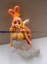 9CM mini Japanese anime figure one piece Shirahoshi action figure kids toys for collectoon(China)