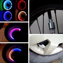 1PCS Bike Bicycle Cycling Car Tyre Wheel Neon Valve Firefly Spoke LED Light Lamp not including batteryfree shipping
