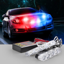 High Power 2x4/led DC 12V Strobe Warning light Car Truck Light Flashing Firemen Lights Ambulance Police light Wholesale