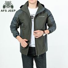 Brand mens  jacket waterproof windbreaker mens autumn jacket Fast drying jacket men AFS JEEP tactical hoodies army  jackets