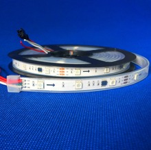 promotion!! 5m DC12V WS2811 150LEDs (10pixes/m) led digital strip;waterproof in silicon tube;IP66;WHITE PCB