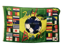 Soccer World Cup Flag 3FTX 5FT