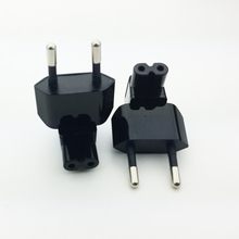 Europe CEE7/16 EU 2-pin power cable plug to IEC C7 figure 8 receptacle plug adapter converter