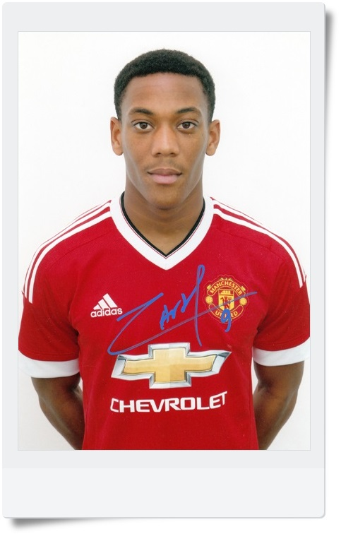 signed Anthony Martial  autographed  original photo  7 inches freeshipping 3 versions 062017  <br>