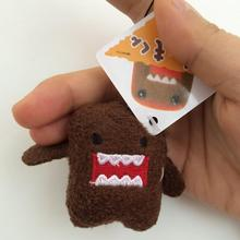 50Pcs/set DOMO KUN Plush toys 5cm mini Phone Charm Bags Keychains Pendant Domokun Lanyard doll kawaii Domo-kun toys Wholesale(China)