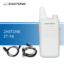 Zastone ZT-X6 Walkie Talkie UHF 400-470 MHz Ham Radio Handheld CB Radio Transceiver Portable Walkie Talkies with Cable Headset(China)