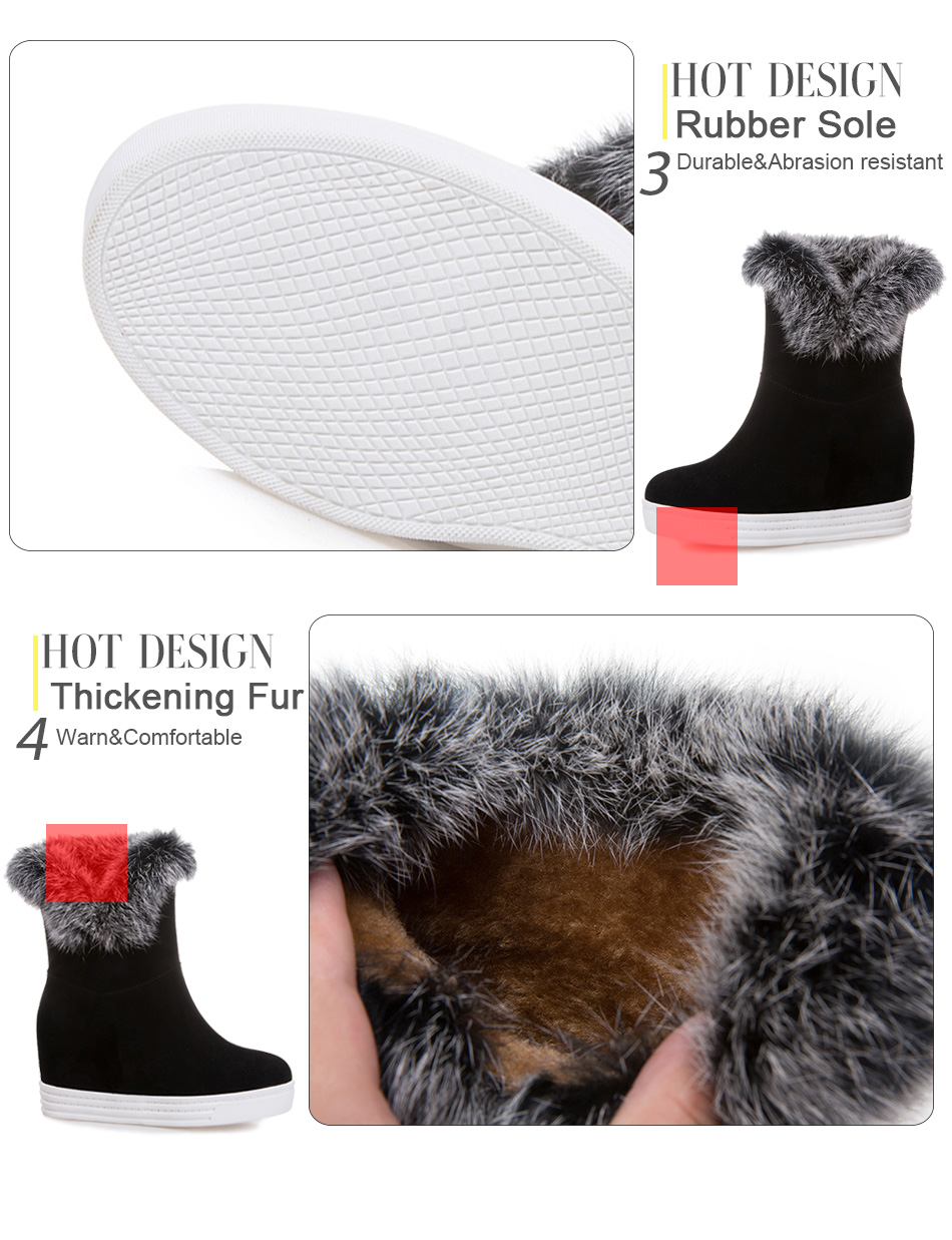 snow boots fur boots