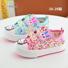 2017 Spring Baby Girls Canvas Shoes Children Cartoon Hello Kitty Shoes Toddlers Comfortable Flats Girls Soft Bottom Sneaker C322