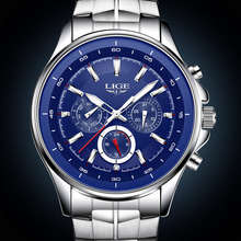 Buy Mens Watches Top Brand Luxury LIGE Military Sport Quartz Watch Men Fashion Waterproof Stainless Steel Wrist Watch Reloj Hombre for $18.99 in AliExpress store