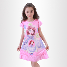 Buy Summer Girls Princess Dresses New Listing 2018 Children Clothing Baby Pajamas Cotton Nightgown Kids Home Cltohing Girl Sleepwear for $4.46 in AliExpress store