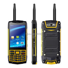 "IP68 Waterproof Rugged Walkie Talkie Mobile Phone Android UNIWA N2 3.5"" capacitive touch screen front back cameras SOS NFC Phone"