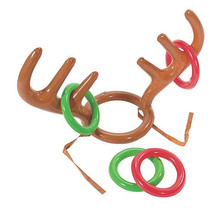 2017 Inflatable Deer Head Shape Ferrule Kid Ring Toss Games Child Outdoor Inflated Toys Birthday Party Supplies Christmas(China)