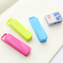 Pure macaron Mini stapler with 800 pcs 10# color staples for paper binding Stationery office school supplies grapadora 6945(China)