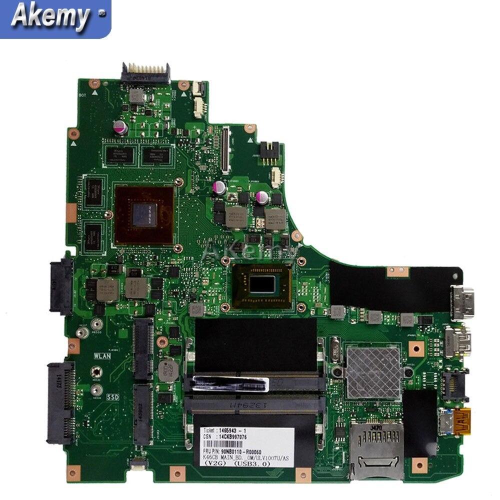 for ASUS K46CB K46CM K46C K46 Test original mainboard I7-3537U GT635M