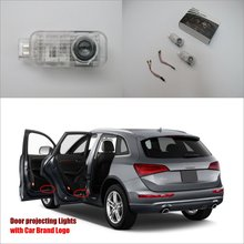 Car Door Ghost Shadow Lights For Audi Q5 2010~2014 Courtesy Doors Lamp / Brand Logo LED Projector Welcome Light(China)