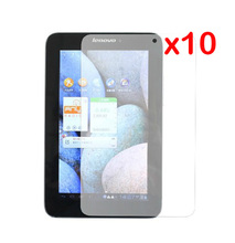 "10x Films + 10x Clean Clothing , LCD Clear Screen Protector Protective Film Guards For Lenovo IdeaTab LePad A2107 A2207 7"" 7inch"