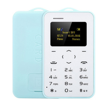 "New Arrival Ultra Thin AIEK/AEKU C6 1.0"" Card Phone Bluetooth 2.0 Calender Alarm Calculator Message Mobile Card Phone"