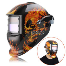 Black Skull Solar Auto darkening TIG MIG MMA Electric Welding Mask Helmet Welder Cap Lens For Welding Machine OR Plasma Cutter
