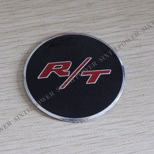 56.5MM R/T LOGO Wheel Center Caps Sticker Emblem Badge Wheels Cover Hub Cap Sticker For Refitting Dodge Charger R/T