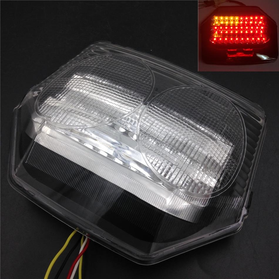 Aftermarket Motorcycle Parts LED Tail Light Brake Turn Signals For   CB1300 2003 CB400 V-TEC 2003-2008 CLEAR<br>