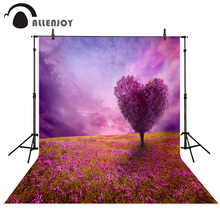 Allenjoy background for photo purple flower tree heart cloud grass wedding backdrop photocall photo studio photography