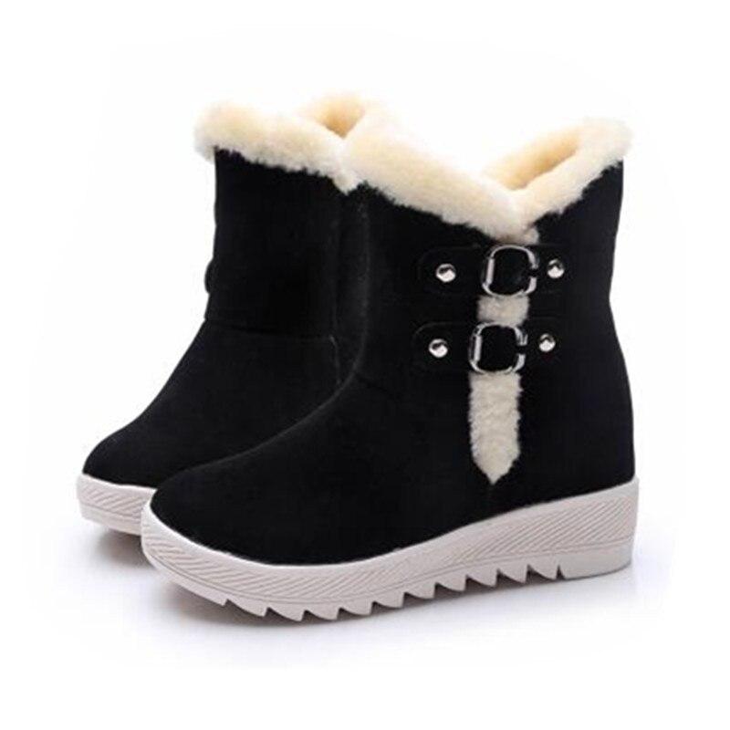 2017 warm brand designer women platform boots slip-on winter waterproof suede women snow boots 999<br><br>Aliexpress