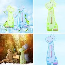 Lovely Cartoon Giraffe Shape Baby BathThermometerWater Temperature Measurement Bath Toy Home Indoor Thermometer 0-6Y(China)