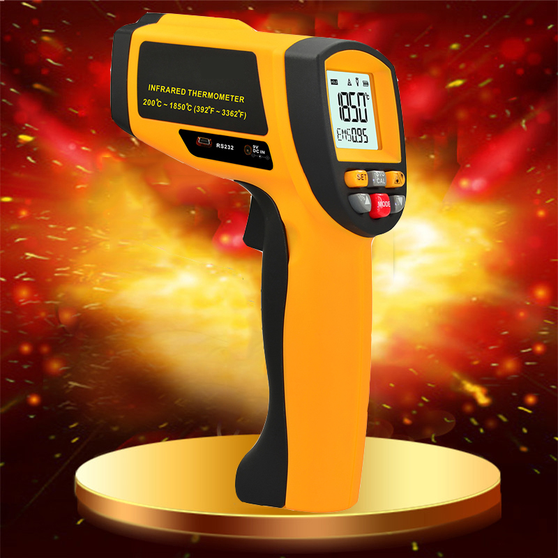 Handheld Non-contact LCD display infrared thermometer 200-1850 Celsius (392~3362 Fahrenheit) temperature measuring gun (2)