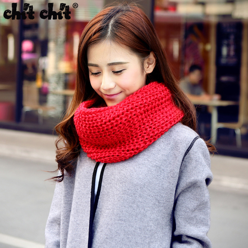 Chit Chit Unisex pure wool Knitted Scarf Male and Female head Scarves Knitting Fashion Ring Scarf Knitting Scarves(China (Mainland))