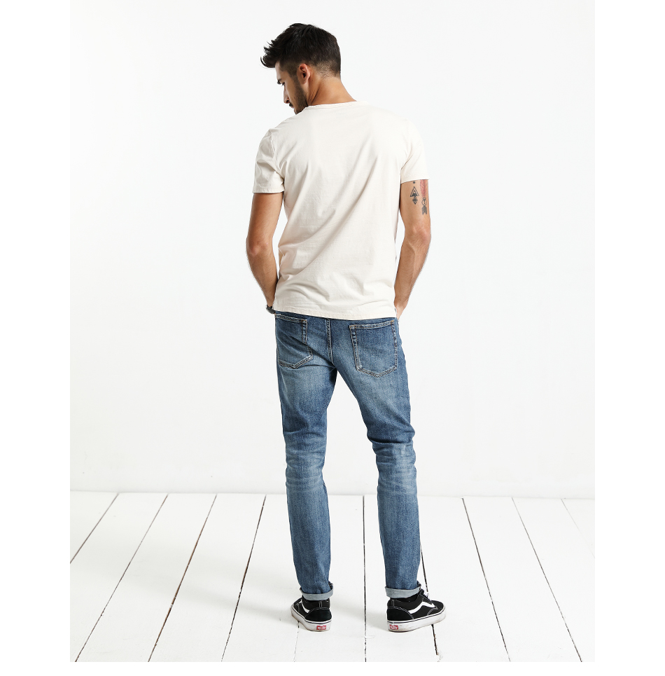 SIMWOOD 17 Autumn New Jeans Men Hole Ripped Slim Fit Denim Trousers Biker Jeans Skinny Brand Clothing High Quality NC017031 9
