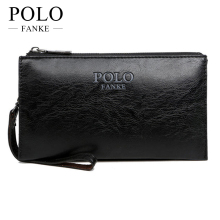 FANKE POLO New Brand Fashion Male Clutch PU Leather Men Wallet Luxury Purse Leather Wallet Men Clutch Bag Card Holder FW17073-N(China)
